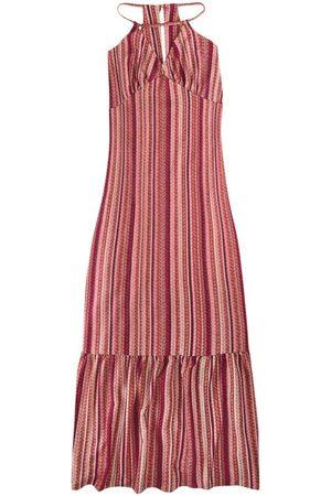 Malwee Vestido Rosê Longo Listrado