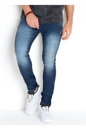 Actual Calça Jeans Skinny com Detalhes Puídos Jeans