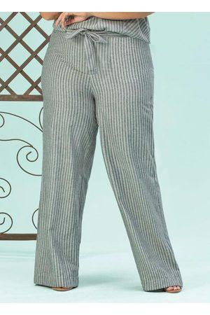 Lisamour Mulher Calça Pantalona - Calça /Off