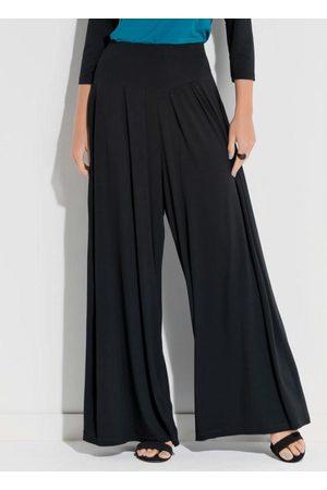 QUINTESS Mulher Calça Pantalona - Calça Pantalona Preta