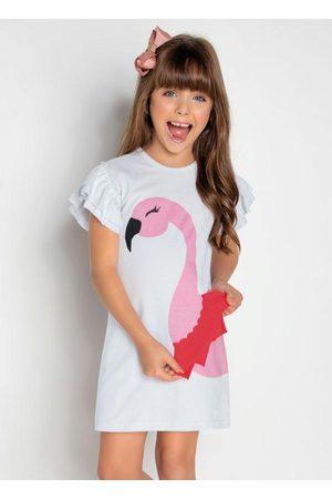 MODA POP Vestido de Flamingo com Babados