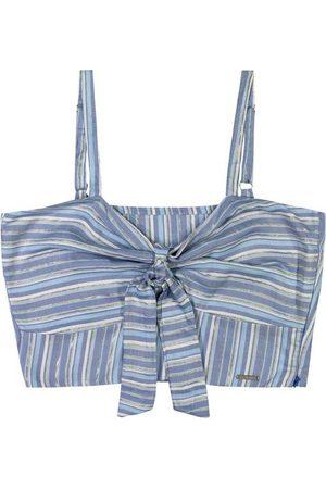 ENFIM Mulher Blusa - Blusa Cropped com Amarração