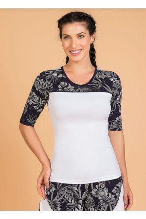 QUEIMA ESTOQUE Mulher Camiseta - Blusa Fitness Branca Moda Evangélica