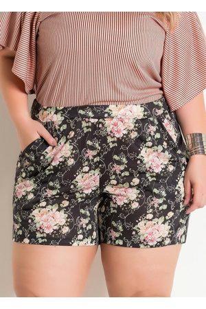Marguerite Mulher Short - Short com Bolso Funcional Floral Cintura Alta
