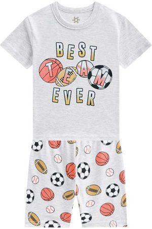 Brandili Pijama Curto Menino Mescla Escuro