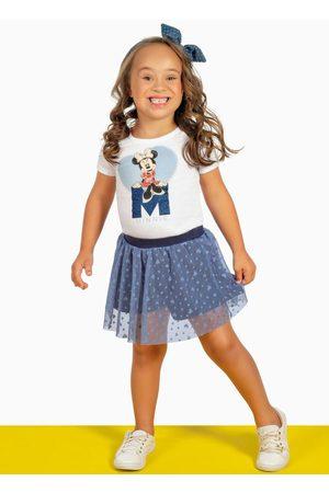 Disney Conjunto Blusa Estampada e Short-Saia