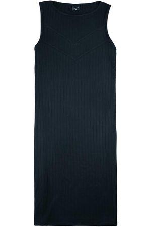 Malwee Mulher Vestidos - Vestido Preta Curto Canelado