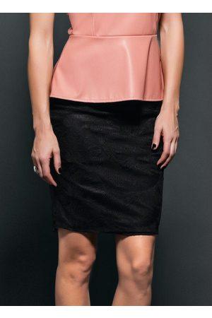 Multimarcas Mulher Minissaia - Saia Cintura Alta em Renda Preta