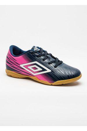 Umbro Homem Sapatos Esporte - Chuteira Indoor Hit Marinho e Rosa