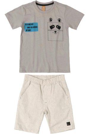 Up Baby Menino Conjuntos - Conjunto Infantil Care For Nature