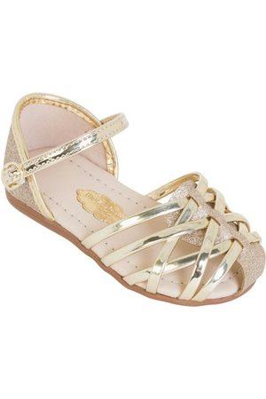 MOLEKINHA Menina Sandálias - Sandália Dourada com Glitter