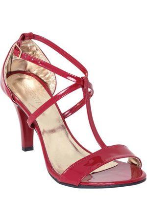 QUEIMA ESTOQUE Sandália Vermelha com Fivela