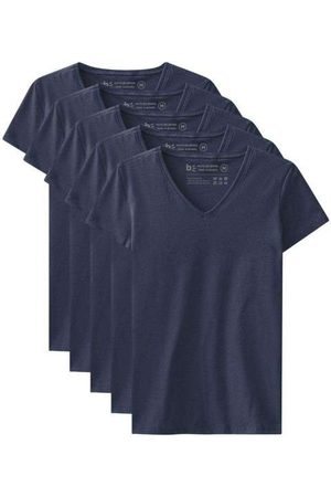 Basicamente Kit de 5 Camisetas Babylook Básicas Gola V