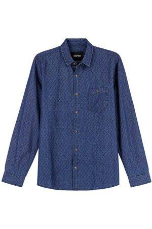 ENFIM Homem Camisa Casual - Camisa Sarja Estampada
