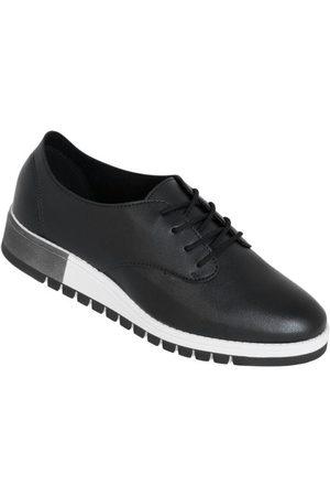 BEIRA RIO Mulher Sapatos - Sapato Preta com Solado Tratorado
