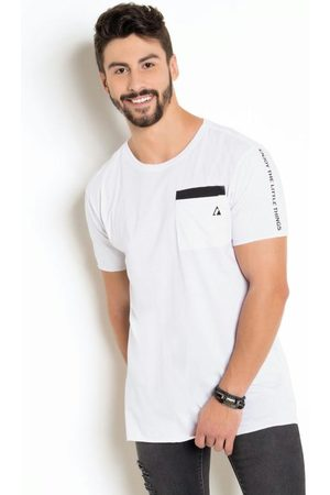 Actual Camiseta BrancaCom Estampa nas Costas