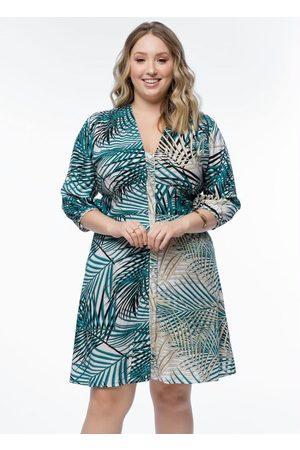Mink Mulher Vestido Estampado - Vestido Plus Size Estampado