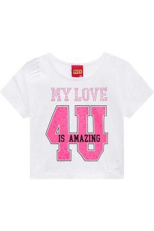 KYLY Menina Camiseta - Blusa Cropped Feminina