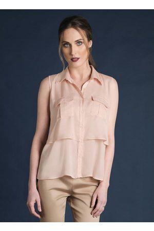 Multimarcas Camisa com Sobreposição Rose