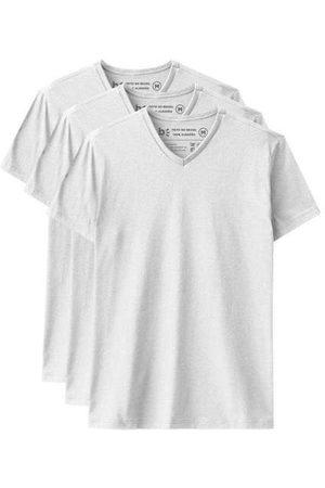 Basicamente Homem Camisolas de Manga Curta - Kit de 3 Camisetas Básicas Gola V