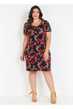 Marguerite Mulher Saia Estampada - Conjunto Plus Size Cropped e Saia Lápis Floral