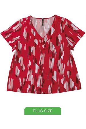 Cativa Plus Size Blusa em Tecido Estampada