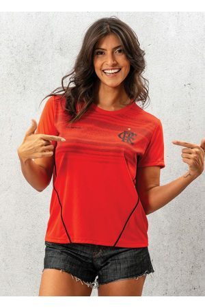 Braziline Mulher Camiseta - Camiseta Flamengo Dribble Vermelha