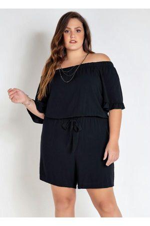 Mink Macaquinho Plus Size com Amarração