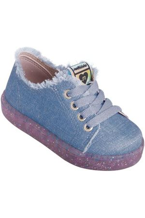 MOLEKINHA Tênis Jeans com Solado em Gliter
