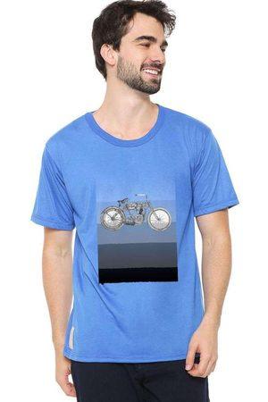 Eco Canyon Homem Manga Curta - Camiseta Masculina Motocross Blue