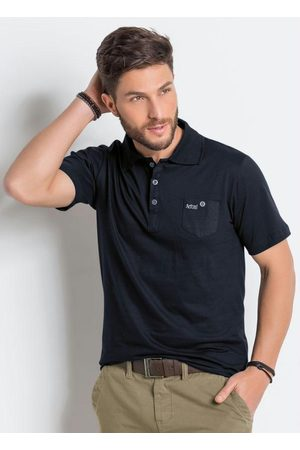 QUEIMA ESTOQUE Camisa Polo Preta Actual com Bolso