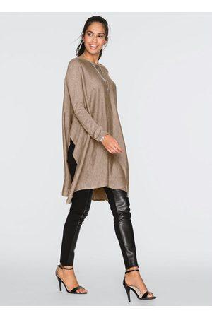QUEIMA ESTOQUE Mulher Suéter - Suéter de Tricô Assimétrico Oversized Taupe