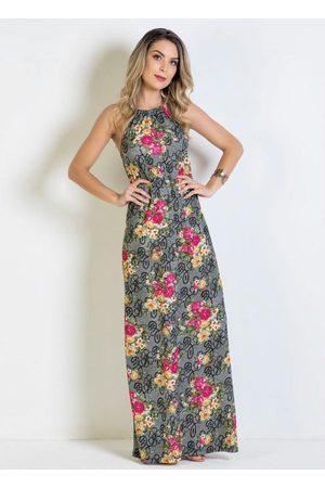 QUEIMA ESTOQUE Mulher Vestido Estampado - Vestido Longo Floral Frente Única