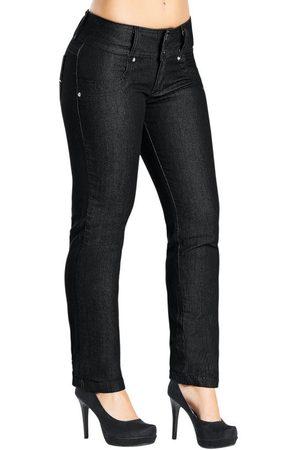 Janine Calça Jeans Skinny Feminina Preta
