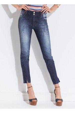 QUEIMA ESTOQUE Calça Skinny Jeans Quintess com Bolsos
