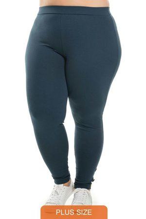 Miss Masy Plus Mulher Calça Legging - Calça com Detalhe