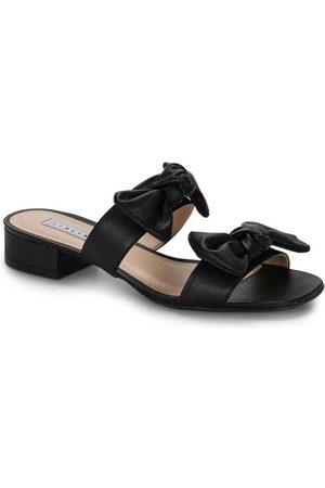 Lia Line Mulher Sapato Mule - Tamanco Salto Laço