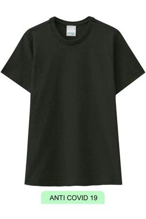MALWEE KIDS Menino Manga Curta - Camiseta Preta Viroblock® Menino