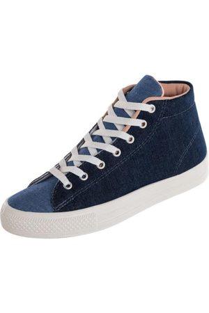QUEIMA ESTOQUE Mulher Tênis - Tênis Feminino Cano Médio Jeans
