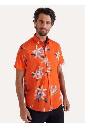 Reserva Homem Camisa Casual - Camisa Mc Estampada Flor do Limao