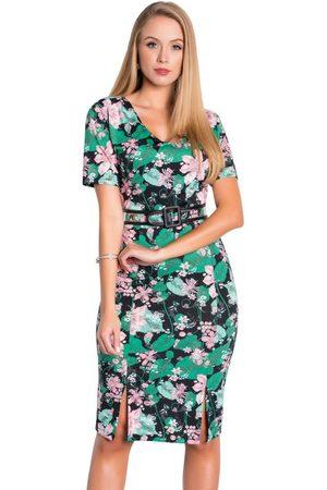 ROSALIE Vestido Tubinho Floral Moda Evangélica