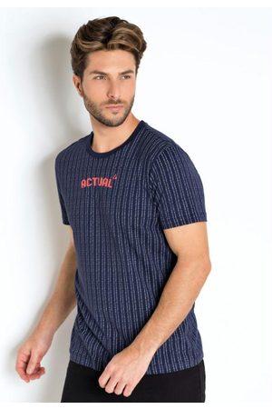 Actual Homem Camisolas de Manga Curta - Camiseta Blue Screen Marinho