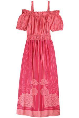 Malwee Mulher Vestido Estampado - Vestido Longo Floral em Viscose