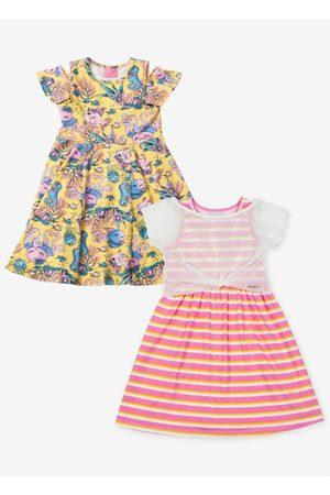 Momi Kit de Vestidos Estampado e Amarelo