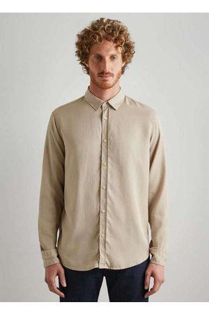 Reserva Homem Camisa Casual - Camisa Regular Lyocel Nude