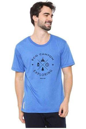 Eco Canyon Homem Manga Curta - Camiseta Masculina Exploring Blue