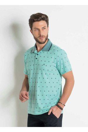 Actual Homem Camisa Formal - Camisa Polo com Estampa e Bordado