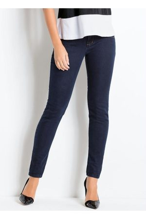 QUINTESS Mulher Calça Skinny - Calça Skinny Jeans Escuro