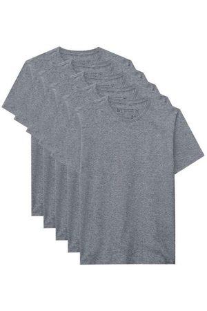 Basicamente Homem Camisolas de Manga Curta - Kit de 5 Camisetas Básicas