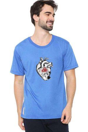 Eco Canyon Homem Manga Curta - Camiseta Masculina Little Heart Bl